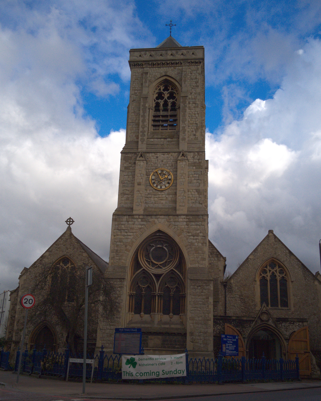 Holy Trinity, Upper Tooting, situated on Trinity Road, SW17 7RH, London, photographed on 9 March 2016