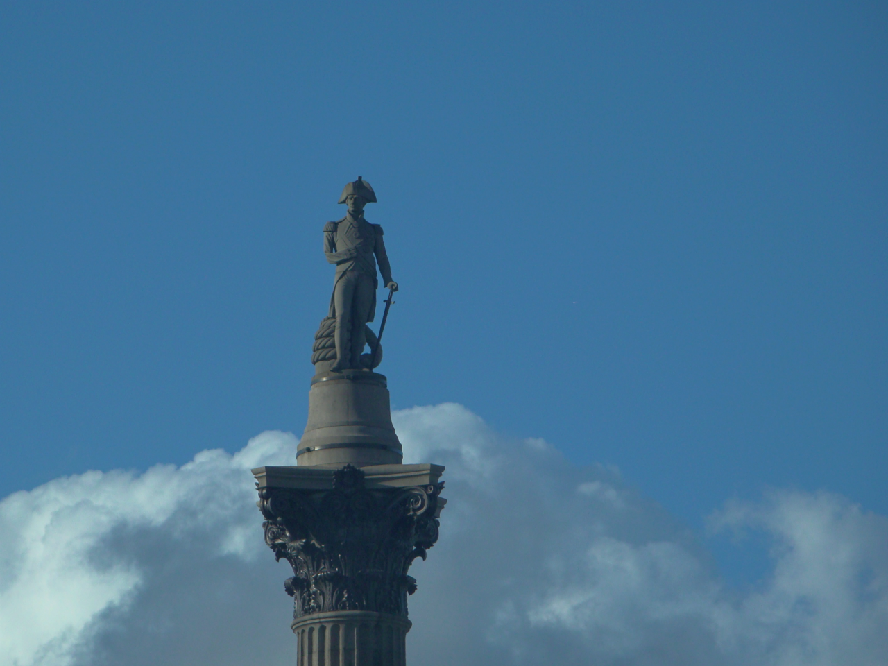 Nelson's Column, Trafalgar Square, London, photographed on 13 September 2017
