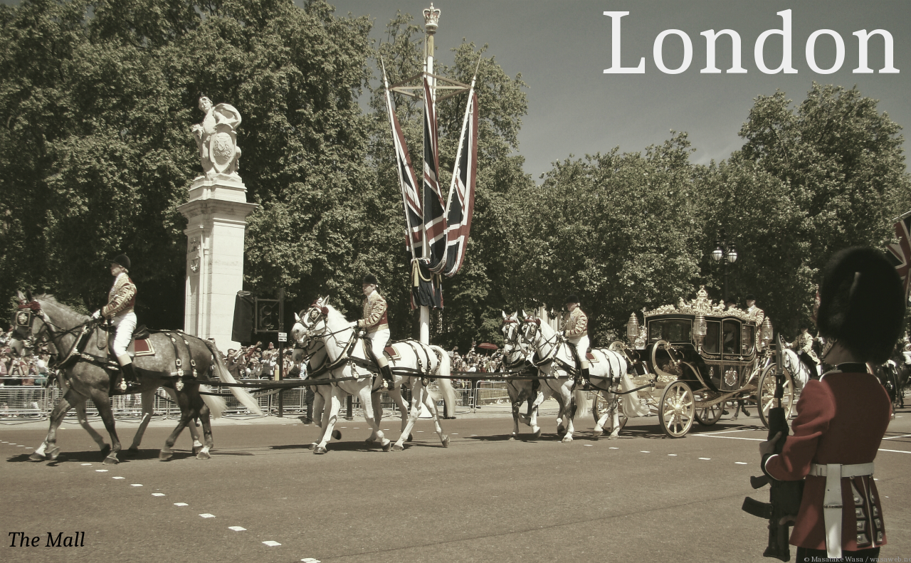 Greetings from London! The Mall. Photographed 27 May 2015.