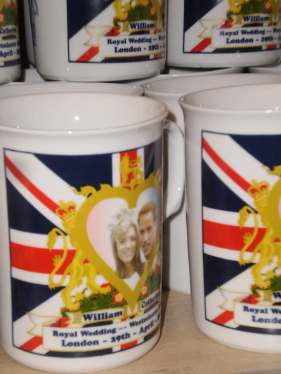 A mug celebrating the Royal Wedding (3), spotted 25 April 2011