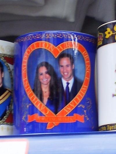A mug celebrating the Royal Wedding (5), spotted 25 April 2011