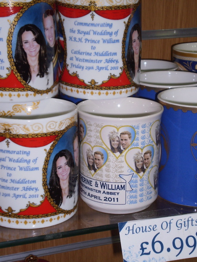 A mug celebrating the Royal Wedding (8), spotted 25 April 2011