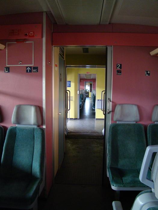 トリーア駅|ドイツ鉄道・ローカル線(RE|RegionalExpress)|車両内の写真