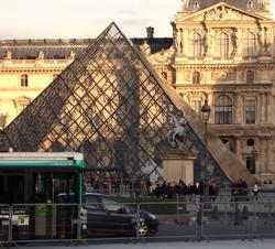 Louvre's glass pyramid, Paris