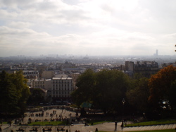 A view of Paris from Montmartre