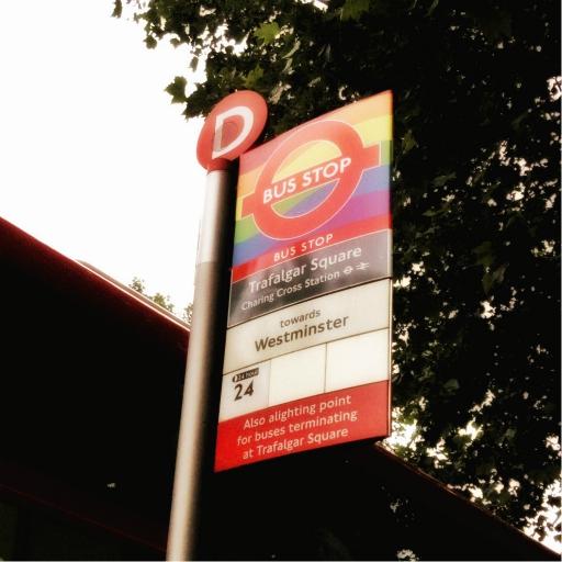 Stock images—512×512—London—Trafalgar Square / Charing Cross Station bus stop—12 June 2018