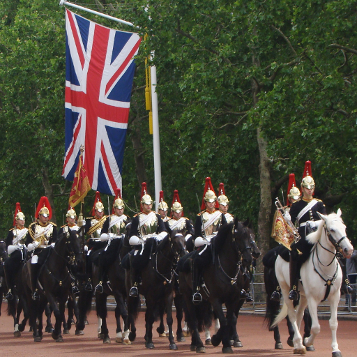 Stock images — 512 × 512 — London — Blues and Royals, The Mall — 11 June 2019