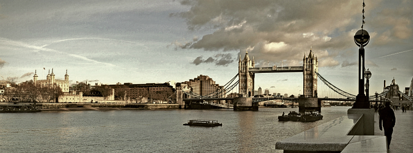 Stock images — Facebook cover photo (851 × 315) — London — Tower of London & Tower Bridge — Photographed: 16 December 2014