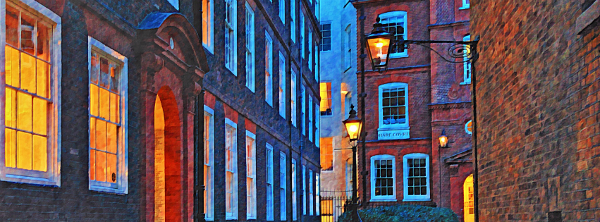 Stock images—Facebook cover photo (851×315)—London—Hare Court—Photographed: 14 January 2015