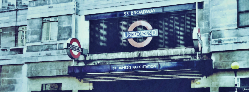 Stock images—Facebook cover photo (851×315)—London │ 275—London Underground St James's Park station—Photographed: 13 March 2015