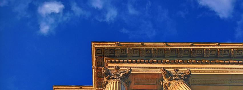画像素材:851✕315(Facebookカバー写真):建築の写真(141:ロンドンのウェリントン・アーチの一部):2015年1月19日撮影