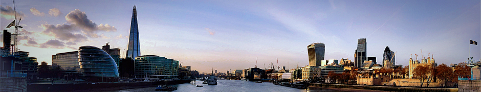 Stock images — 940 × 180 — London — 79 — A view of London from Tower Bridge — 16 December 2014