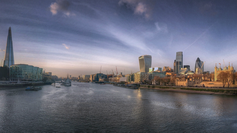 Stock images—960×540—London—120—A view of London from Tower Bridge—16 December 2014