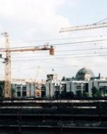 ベルリン Lehrter 駅:後に中央駅 Hauptbahnhof となる(2002年撮影)