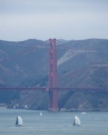 (Thumbnail) A tower of the Golden Gate Bridge seen from Coit Tower