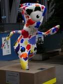 ロンドン五輪のマスコット Mandeville の像