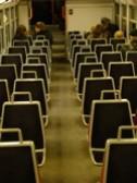 パリ RER 2階建て車両1階部分の座席